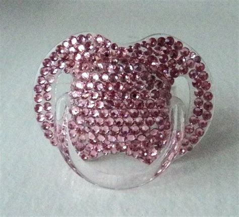 One Gig Of Glitter From Philips And Swarovski by Pink Or Blue Or Clear Swarovski Pacifier Princess