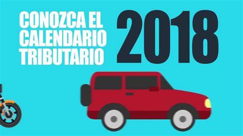 impuesto vehicular para motos youtube conozca el calendario tributario para el pago de impuesto