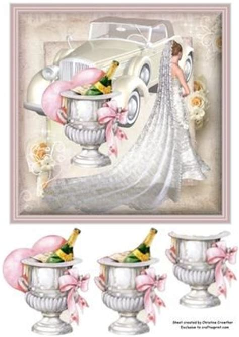 Wedding Decoupage - the chagne and chagne buckets on
