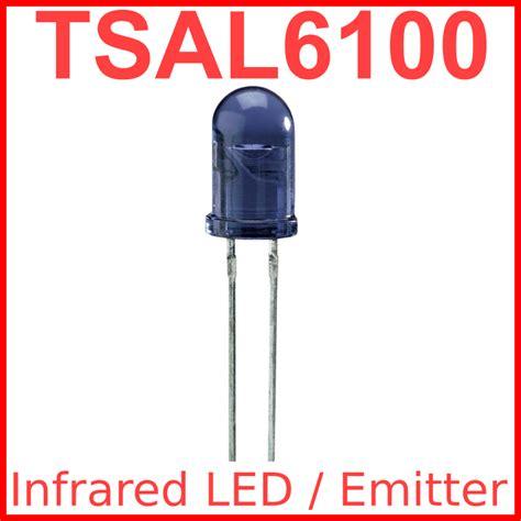Vishay Tsal6400 Ir Led Infra Merah Emitter Ir 940nm 100ma Original ir led emitters vishay tsal6100 analysir