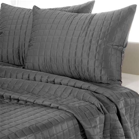 meijer bedding square pattern quilted comforter set gray meijer com
