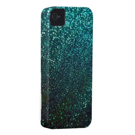 Pasir Glitter Iphone 4 blue green glitter print sparkle iphone cover iphone 4 from zazzle