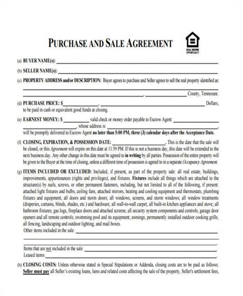 purchase house 8 house sales contract sles templates in pdf