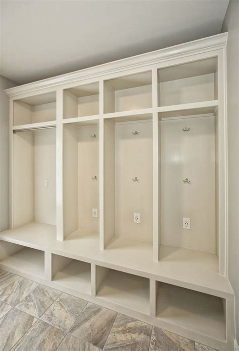 mudroom cubbies  usb charging station   laundry