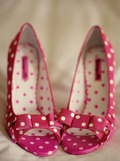 pink polka dot wedding shoes yes shoes