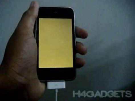 how to fix yellow screen on iphone ipod touch on ios 5 and 4