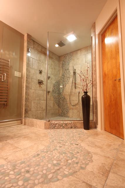 river rock bathroom ideas how to use river rock tile in bathroom design 19 great
