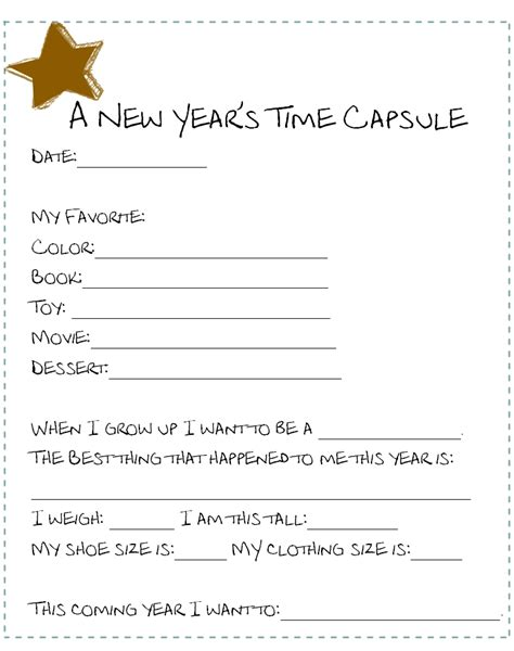 questions about new year new year s time capsules munchkins and