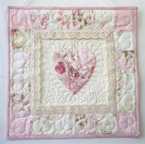 Shabby Chic Quilts Shabby Cottage Chic Wall Quilt Applique Wall Quilt
