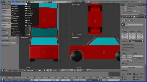 tutorial blender modeling car blender tutorial making a simple model of a car part 2