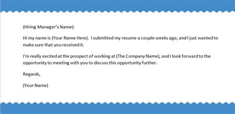 Follow Up Resume Email Sample – Doc.#625524: Best Photos of FollowUp Email After Sending