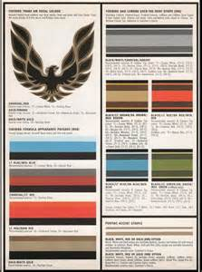 trans colors phscollectorcarworld 1977 pontiac car interior exterior