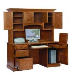 Computer Desk With Hutch Top Amish Computer Desk With Hutch