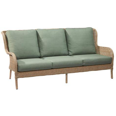 home depot outdoor sofa hton bay lemon grove wicker outdoor sofa with surplus