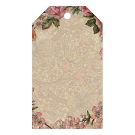 gift tags vintage clipart finders chic vintage roses gift tags zazzle