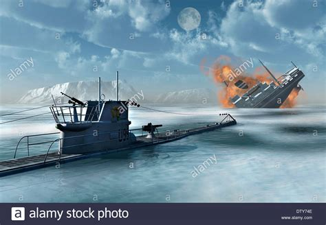 sinking boat movies a u boat sinking a ship from an arctic convoy 2 stock