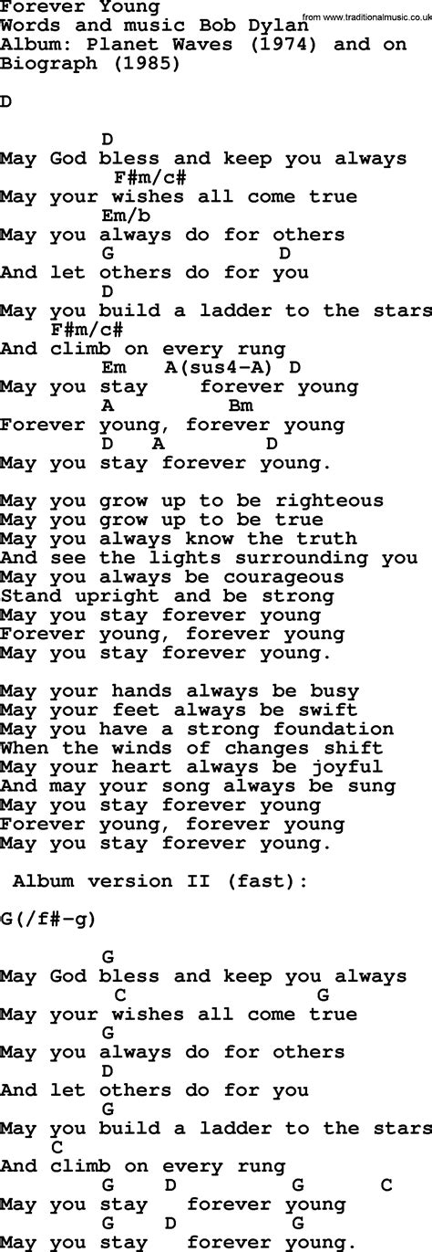 Similiar Forever Young Words Keywords