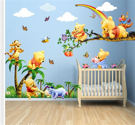 winnie the pooh bedroom wallpaper winnie the pooh bedroom wallpaper aliexpress buy winnie the pooh photo murals 3d