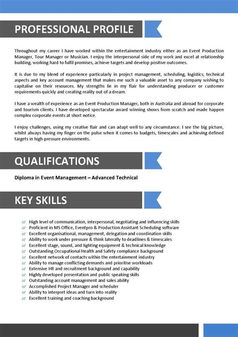 sle resume for entertainment industry sle resume for entertainment industry sle resume