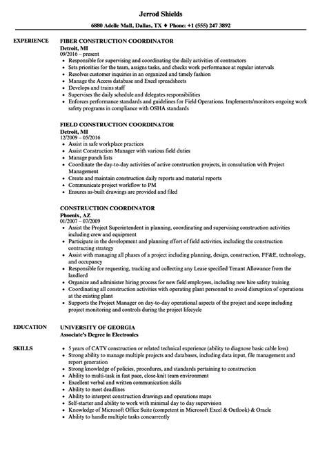 excellent resume construction manager duties gallery