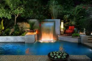 Garden Pools Los Angeles Modern Cascade Garden Pool Designed By Luxe