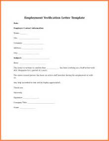 Exle Of Employment Letter For Us Visa 12 Employment Verification Letter Template For Visa Insurance Letter