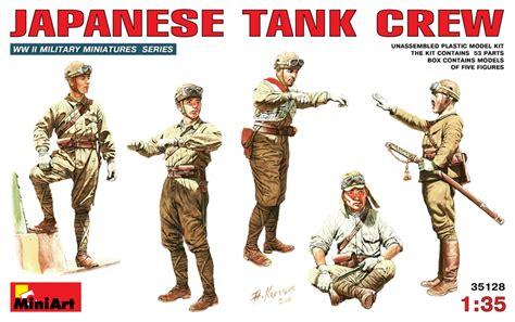 Model Kit Miniart 135 Tank Crew Wwii miniart news japanese tank crew 1 35