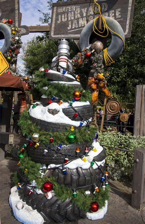 plug in car christmas tree the trees of cars land at disney california adventure park disney parks