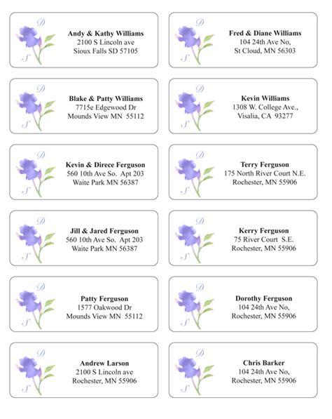wedding address cards templates free wedding address labels mini bridal