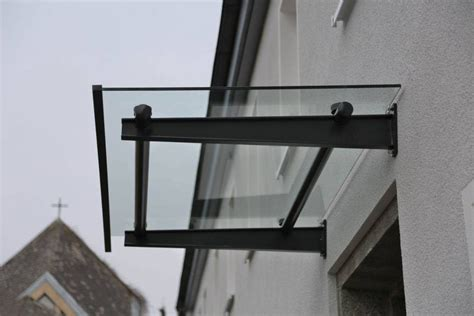 Vordach Stahl Glas by Vordach Aus Lackiertem Stahl Und Glas