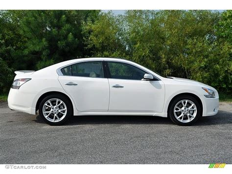 Winter White 2012 Nissan Maxima 3 5 Sv Sport