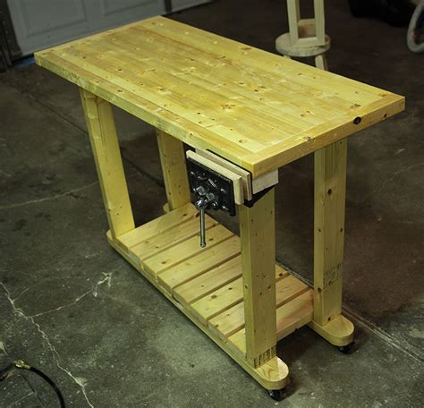 portable workbench made from home depot 2 x 4 studs by