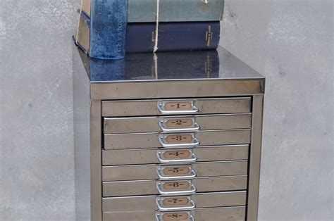 Vintage Industrial Steel Filing Cabinet 20 Drawer   Home