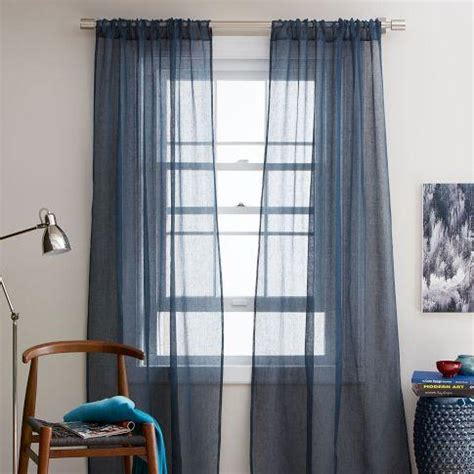 sheer blue curtains window treatments blue drapes