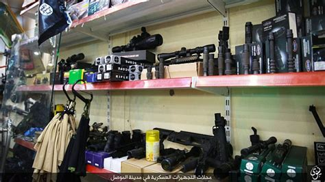 gun dealers mail isis releases images of gun store in mosul daily mail online