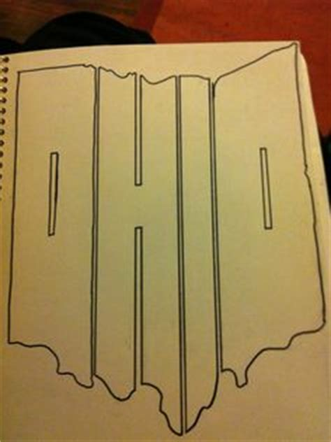 ohio state outline decal sticker available in 19 colors patterns art etc