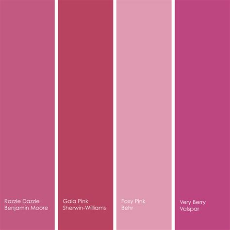 pink paint colors pink paint color names paint color ideas