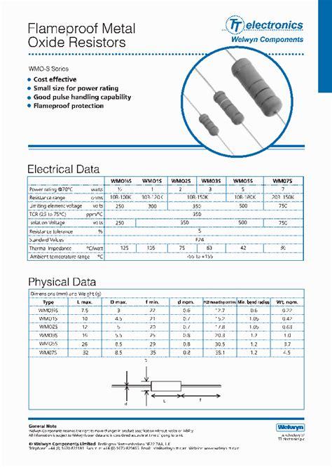 leaded resistor datasheet wmo12s 16rja5 3803371 pdf datasheet ic on line