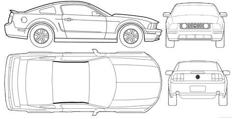 blueprint car mustang new the blueprints blueprints pkw