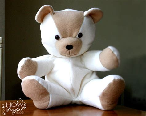 teddy bear tutorial and pattern 5
