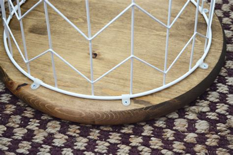 wire and wood basket side table oleander and palm diy wire basket side table