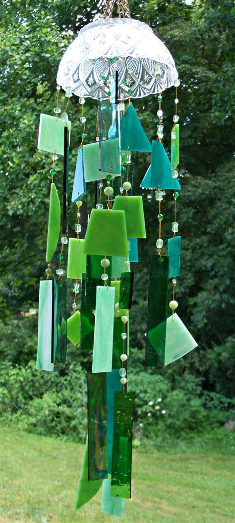 Handcrafted Wind Chimes - handcrafted stained glass wind chime from saltairartglass