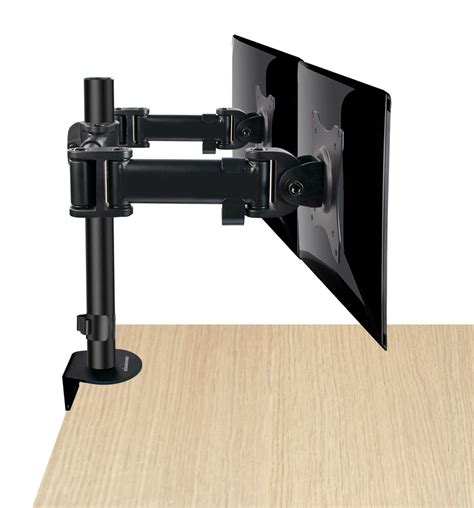 articulating monitor desk mount articulating dual monitor mount