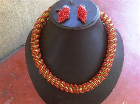 pattern making nigeria nigerian beaded necklace patterns beautyful jewelry