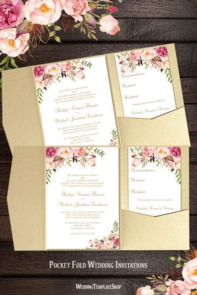 Cards And Pockets Wedding Template by Printable Wedding Templates Blossoms Diy
