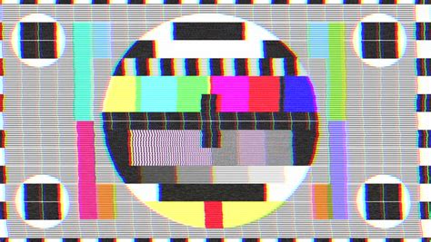 test pattern cards 4k tv test card malfunction loop stock footage video