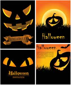 Halloween Card Templates Free Halloween Invitation Cards Vector Vector Graphics Blog