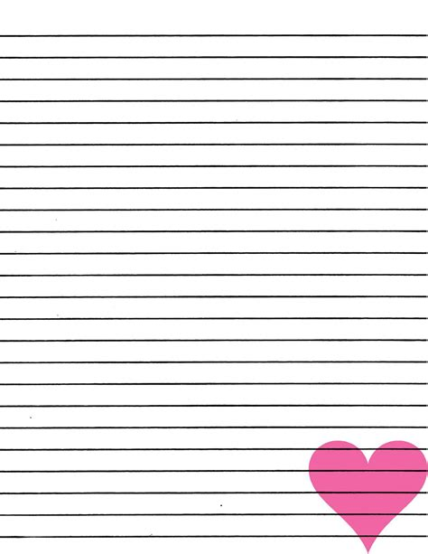 printable lined paper no download just smashing paper freebie pink heart lined paper