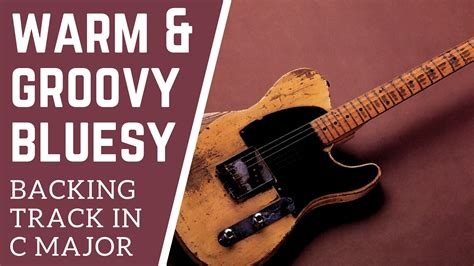 video backing track in g major style slash warm groovy bluesy guitar backing track in c major