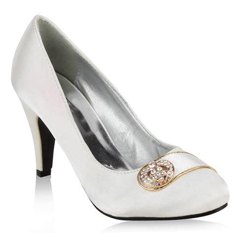 Schuhe Wei Damen Hochzeit by Edle Damen Braut Schuhe Wei 223 94798 Pumps Hochzeit 36 41 Ebay